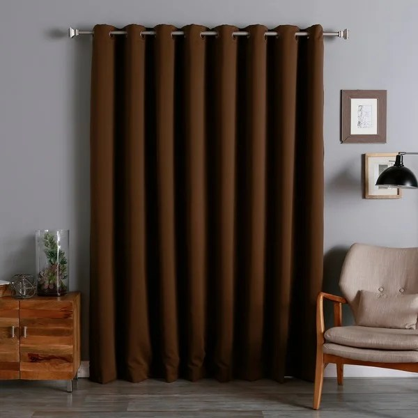 Aurora Home Extra Wide Thermal 100 x 84inch Blackout Curtain Panel  Free Shipping Today
