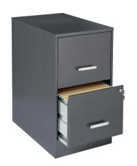 Office Designs Metallic Charcoal-colored 2-drawer Steel ...