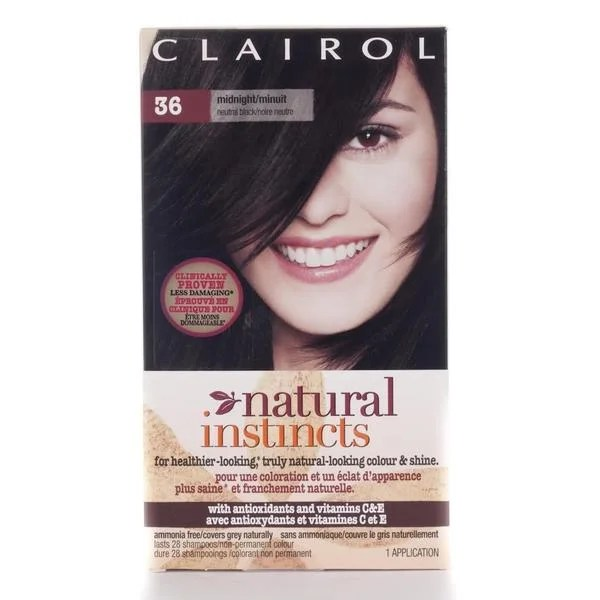 Clairol Natural Instincts 36 Midnight Hair Color Pack of