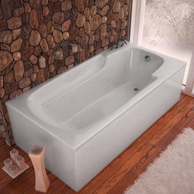 Eros White 60x32 Inch Soaker Tub 13589423 Shopping Great Deals On Atlantis