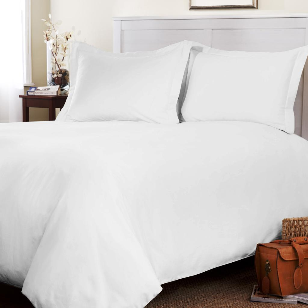 Roxbury Park Solid White Queensize 3piece Duvet Cover Set  Free Shipping Today  Overstock