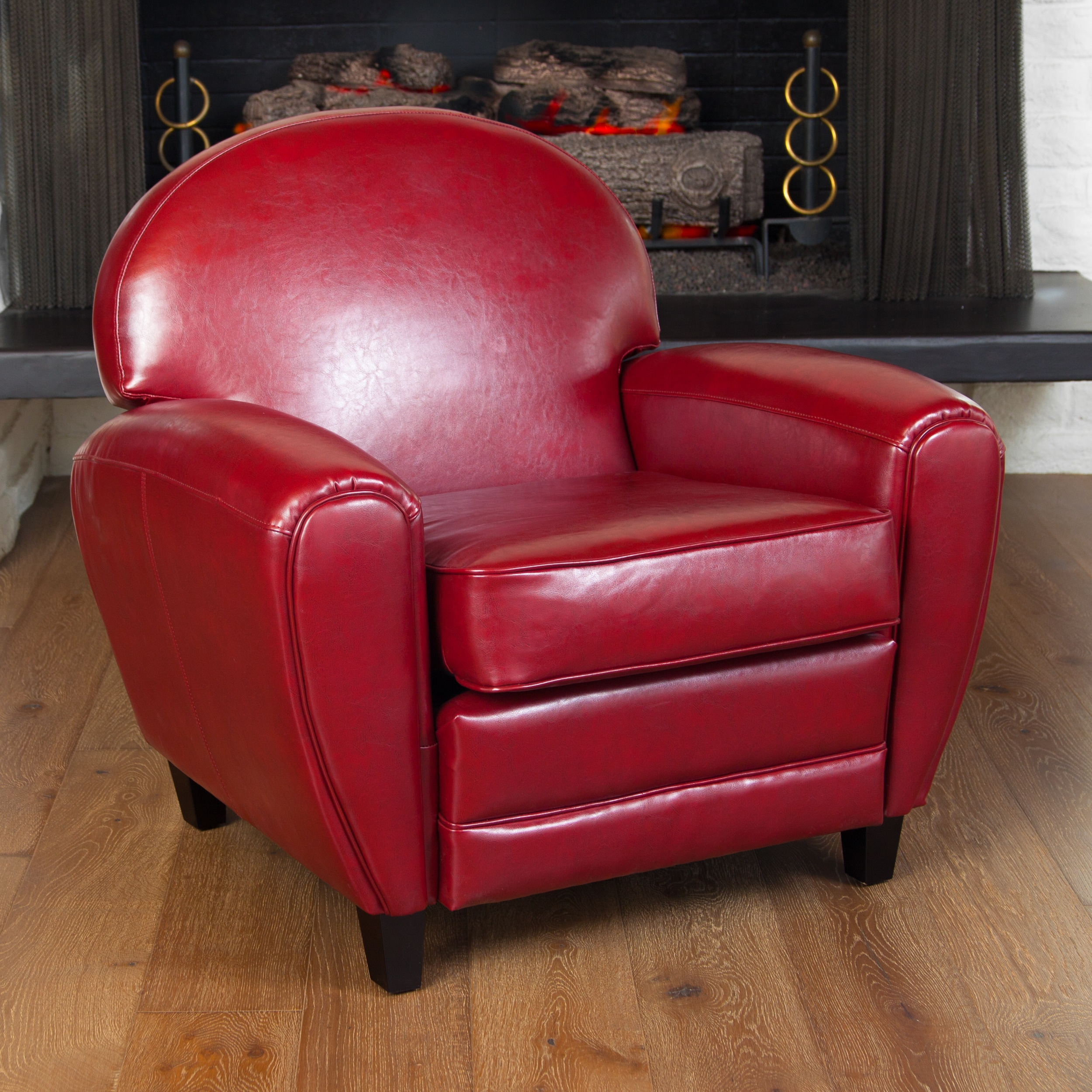 christopher knight chair world market french bistro chairs oversized ruby red leather club by