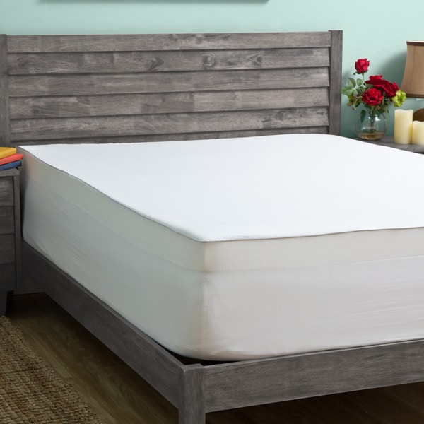 Slumber Solutions 3 Inch Memory Foam Mattress Topper With Egyptian Cotton Cover