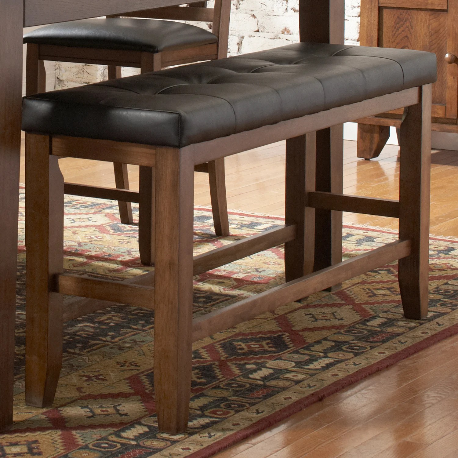 Tribecca Home Kai Oak Brown Casual 24 Inch Backless Counter Height Dining Bench Overstock 5943030