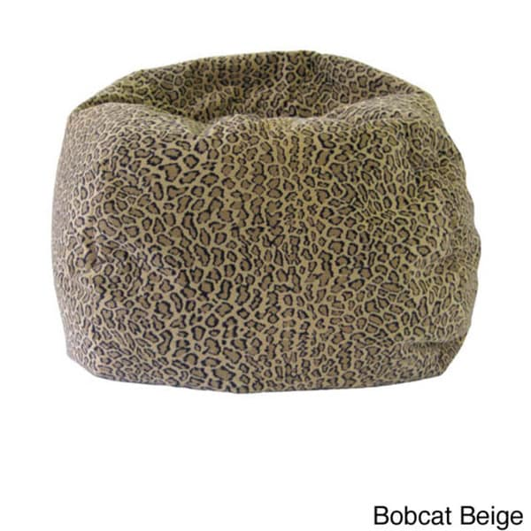 cheetah print bean bag chair vintage velvet shop gold medal jumbo animal round on sale