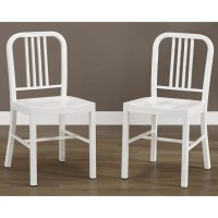 White Metal Side Chairs (Set of 2) - Overstock Shopping ...