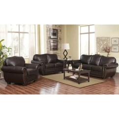 Living Room Suites For Sale Mixing Leather And Fabric Furniture In Shop Abbyson Richfield Top Grain Sofa Set On
