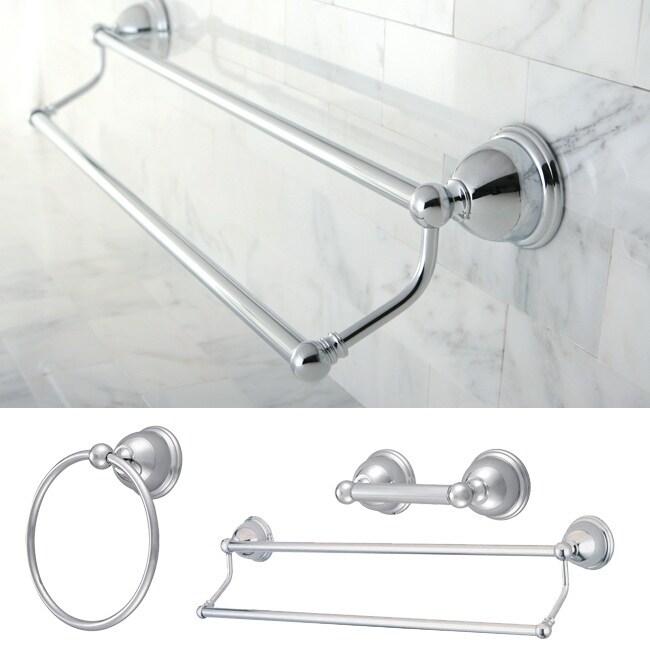 Restoration Chrome 3-piece Double Towel Bar Set