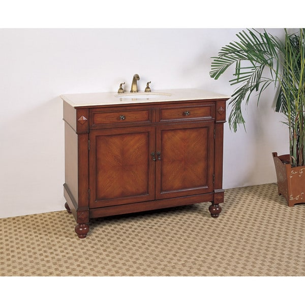 Shop Marble Top 42inch Single Sink Bathroom Vanity  Free Shipping Today  Overstock  5971678