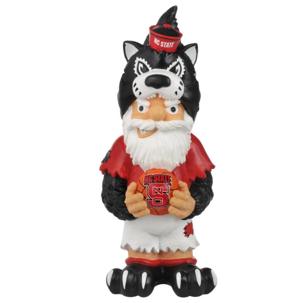 North Carolina State Wolfpack 11- Thematic Garden Gnome - Free Shipping Orders Over