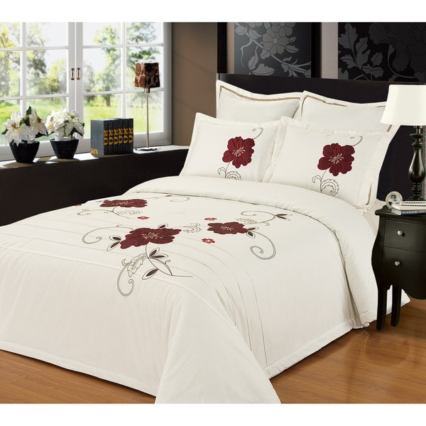 Shop Poppy Vine 3piece Comforter Set  Free Shipping