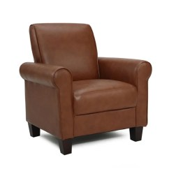 Tafton Club Chair Swivel Hunting With Armrests Shop Rollx Med Brown Faux Leather Accent - On Sale Free Shipping Today Overstock.com ...