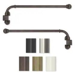 pinnacle bold pole adjustable 144 to 240 inch length curtain rod