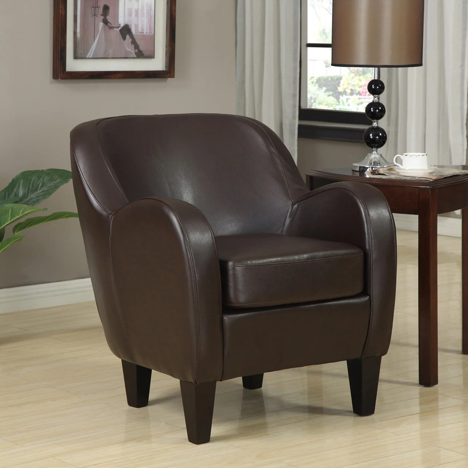 Overstock Chairs Bedford Bonded Leather Chair Overstock Shopping Great