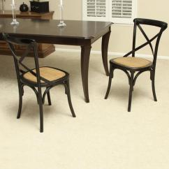 Black Cross Back Dining Chairs Chair Standards Shop Birch Wood By Christopher Knight Home