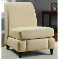 Regina Buttercream Armless Chair - 13687218 - Overstock ...