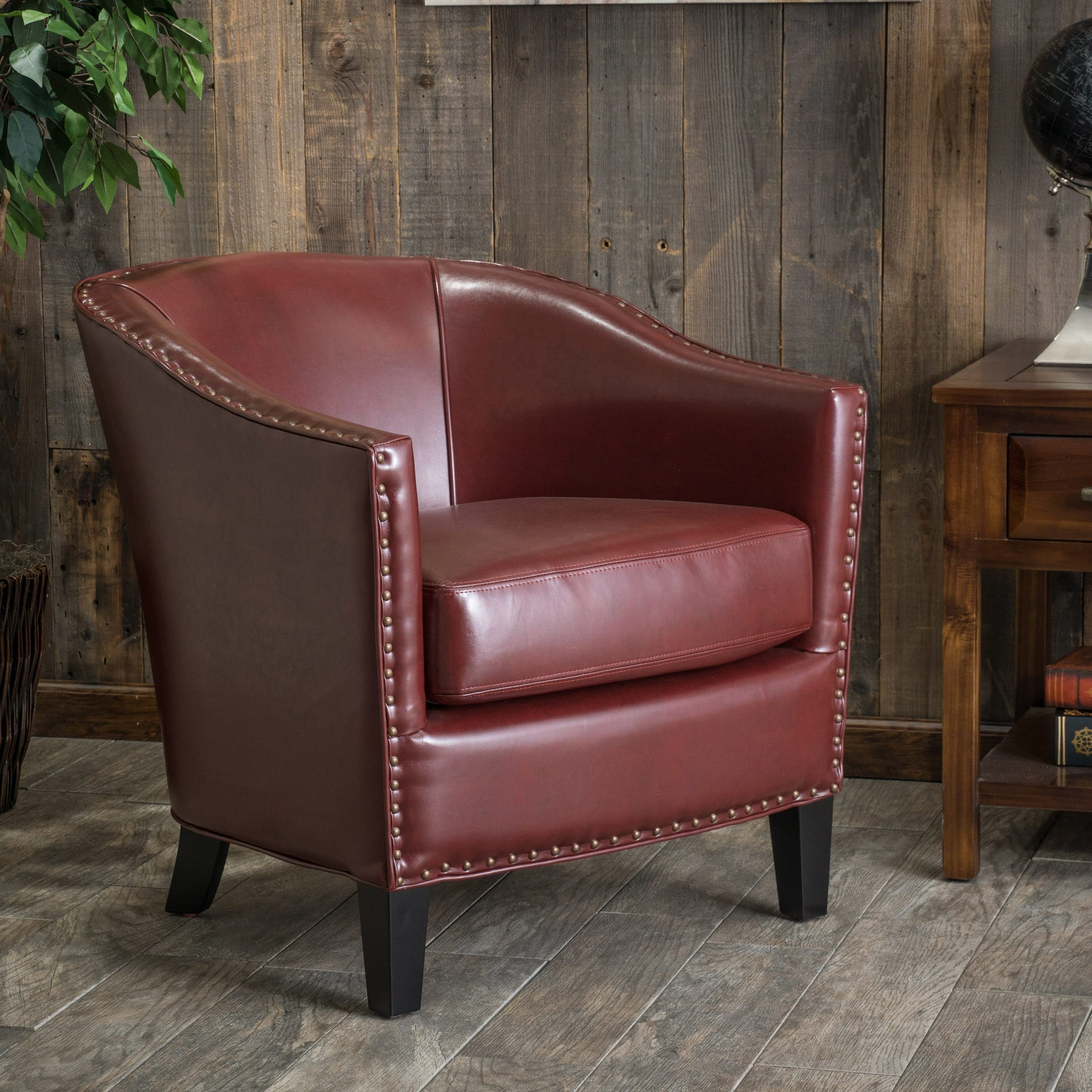 christopher knight club chair sun lounge chairs home austin oxblood red leather