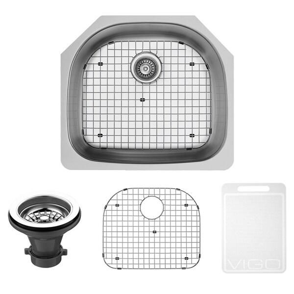 kitchen sink grates cabinet hardware pulls shop vigo 24 inch undermount stainless steel grid and strainer