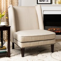 Shop Wing Chair Natural Linen - Free Shipping Today ...
