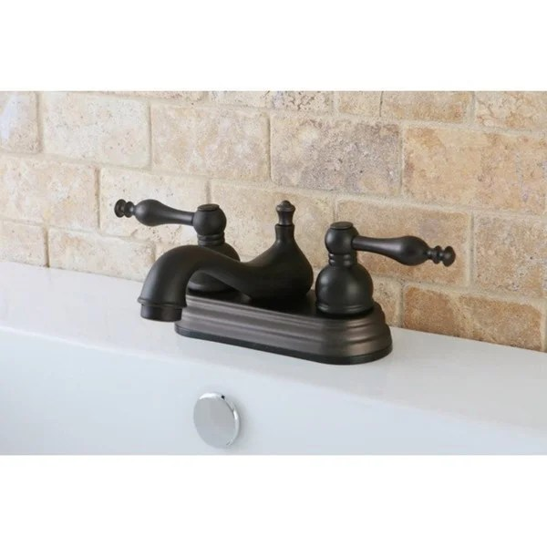 4 inch oil rubbed bronze bathroom faucets Shop Oil Rubbed Bronze 4-inch Centerset Bathroom Faucet