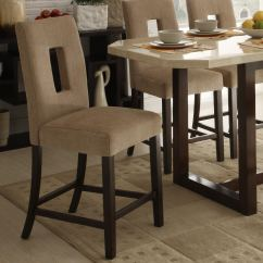 Upholstered Counter Height Chairs Kid Pedicure Chair Camille Beige Fabric Stool Set