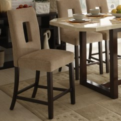 High Bar Stool Chairs Wedding Chair Covers Hire North Wales Camille Beige Fabric Upholstered Counter Height Back