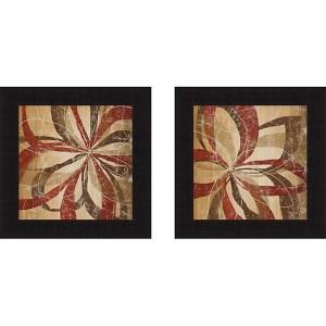 Katrina Craven 'Floral Motion I & Floral Motion II' Framed Print