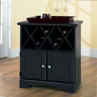 New Visions by Lane Manor Hill Black Wine Cabinet - Free ...