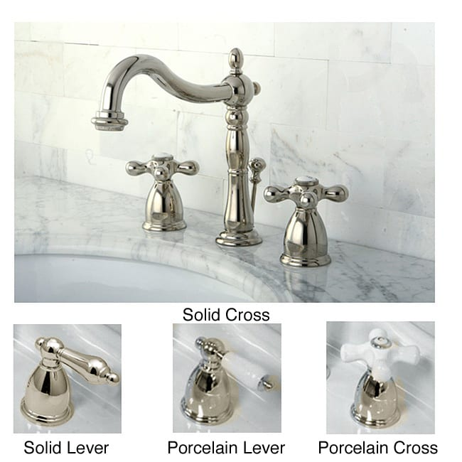 Polished Nickel Widespread Bathroom Faucet  Free Shipping
