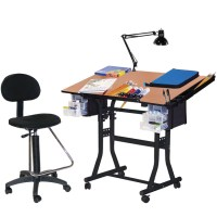 Martin Black Creation Station Drafting Table, Chair, Lamp ...