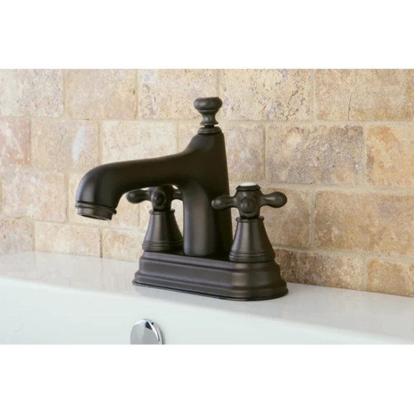 4 inch oil rubbed bronze bathroom faucets Shop Oil Rubbed Bronze Bathroom 4-inch Centerset Faucet - Free Shipping Today - Overstock.com