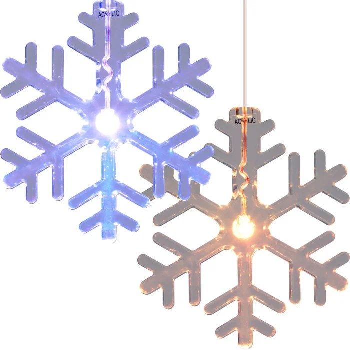 LED Color Changing Snowflake Window Decorations (Set of 2