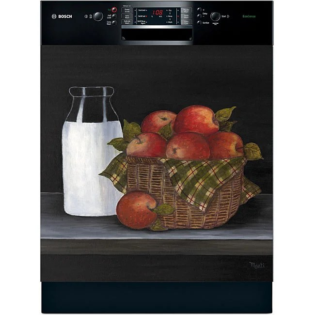 apple kitchen rugs exhaust fan for ceiling appliance art 'an a day' dishwasher cover - free ...