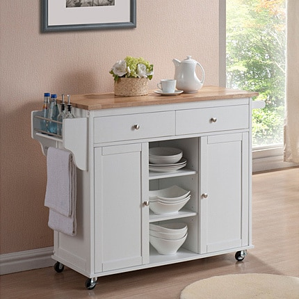 modern kitchen cart slice rugs shop copper grove dunraven white island free shipping today overstock com 20543339