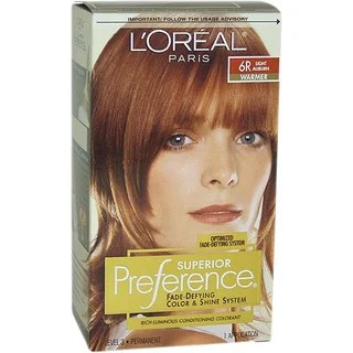Shop LOreal Superior Preference Fade Defying 6R Light
