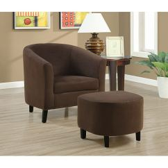 Brown Accent Chairs Mongolian Fur Chair Cover Shop Chocolate And Ottoman Free Shipping Today Overstock Com 6212381