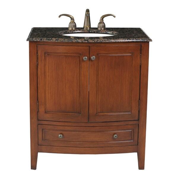 Stufurhome 32inch Single Sink Baltic Brown Top Bathroom