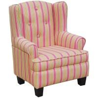 Adorable Toddler Child's Pink Stripe Wingback Bedroom ...