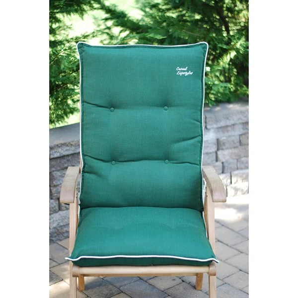 high back wicker chair cushions baseball and ottoman shop patio cushion set of 2 free shipping today