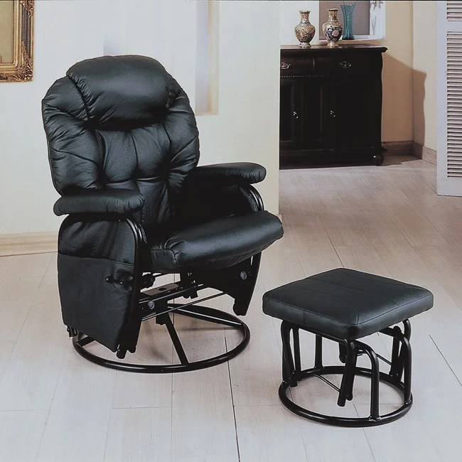 navy blue velvet club chair metal office shop black swivel rocker recliner with ottoman - free shipping today overstock.com 6230690
