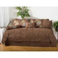 Shop Maxwell Floral Brown 7-piece Microfiber Daybed Set ...