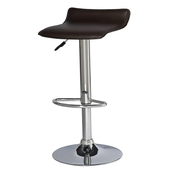 swivel chair em portugues counter height shop adjustable faux leather and chrome stool set of 2