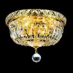 Elegant Lighting Crystal Chandelier Gold Flush Mount Light Overstock 6265509