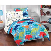 Dinosaur Prints 5-piece Twin-size Bed in a Bag with Sheet ...