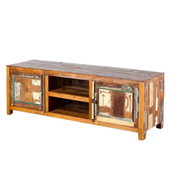 Weathered Reclaimed Wood Low Entertainment Center India