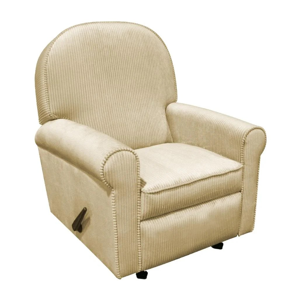 glider rocking chair big lots beach dining chairs the rockabye co jayden tan chenille recliner