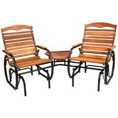 Tete A Chair Outdoor Mechanical Sex Patio Glider Chairs Garden Rocking Double 2 Person Armchair