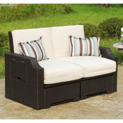Sofa Lounger Outdoor Metal Frame Bed Single Shop Wicker And Polyester Convertible Chaise