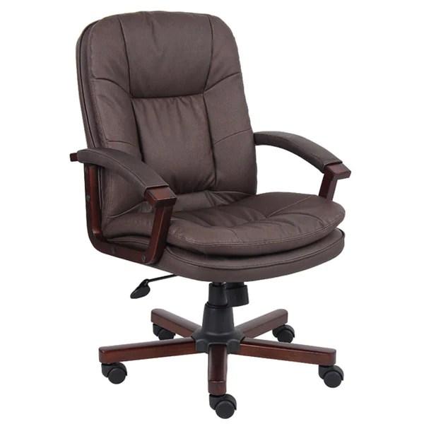 Boss Versailles LeatherPlus Executive Chair  Free