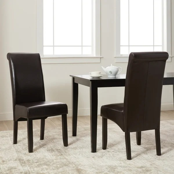 dining chairs overstock car chair back support shop milan faux leather set of 2 free shipping